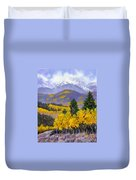 Snowing In The Mountains Duvet Cover
