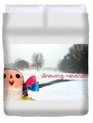 Snowing Nevando Duvet Cover