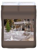 Snowman Big Bear California Duvet Cover