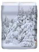 Snowmen In France Duvet Cover