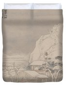 Snowscape From Album For Zhou Lianggong Duvet Cover