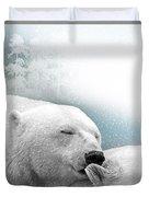 Snowstorm Kiss Duvet Cover