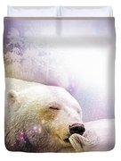 Snowstorm Kisses Duvet Cover