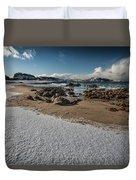 Snowy Beach Duvet Cover