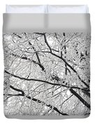 Snowy Branches Duvet Cover