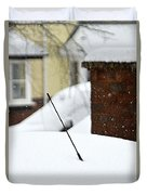 Snowy Car Aerial Duvet Cover