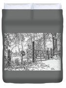 Snowy Cattle Gate Duvet Cover