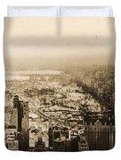 Snowy Central Park New York City Photograph Duvet Cover