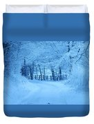 Snowy Country Lane Duvet Cover