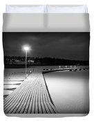 Snowy Dock Duvet Cover