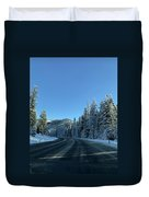Snowy Drive Duvet Cover