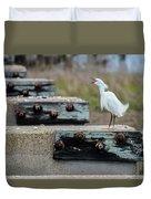 Snowy Egret #2 Duvet Cover