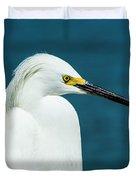 Snowy Egret Portrait Duvet Cover