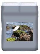 Snowy Egret  Series 2  3 Of 3  Adjusting Duvet Cover