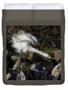 Snowy Egret Stretch Duvet Cover