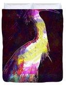 Snowy Egret Waterfowl Bird Large  Duvet Cover