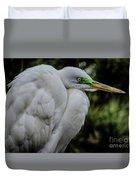 Snowy Egrets Duvet Cover
