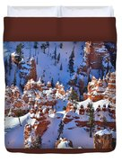 Snowy Fairy Castle Duvet Cover