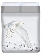 Snowy Flight Duvet Cover