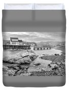 Snowy Fogged In Cove Duvet Cover