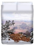 Snowy Frame - Grand Canyon Duvet Cover