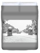 Snowy Gates Of Chisolm Island Duvet Cover