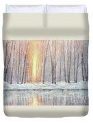 Snowy Glow Duvet Cover