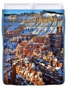 Snowy Hoodoos Duvet Cover