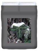 Snowy Ivy Duvet Cover