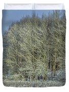 Snowy Landscape #f3 Duvet Cover