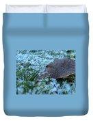 Snowy Leaf Duvet Cover