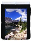 Snowy Mountain Lake Duvet Cover