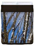 Snowy Ocotillo Sky Duvet Cover