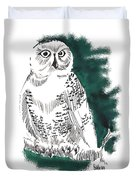 Snowy Owl II Duvet Cover