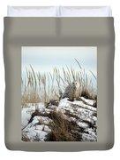 Snowy Owl In Dunes #2 Duvet Cover