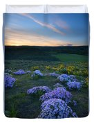 Snowy Phlox Sunset Duvet Cover