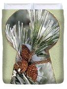 Snowy Pine Keyhole Duvet Cover