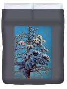 Snowy Pine-tree Duvet Cover