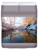 Snowy Refections Duvet Cover