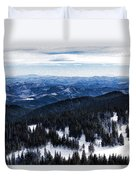 Snowy Ridges - Impressions Of Mountains Duvet Cover
