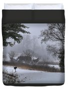 Snowy Road 2 Duvet Cover