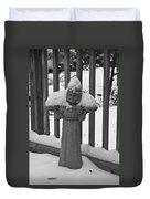 Snowy Statue Duvet Cover