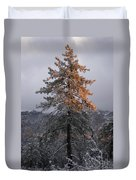 Snowy Sunset Duvet Cover
