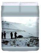 Snowy Switchbacks On Pikes Peak Duvet Cover