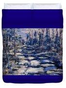 Snowy Trail Duvet Cover