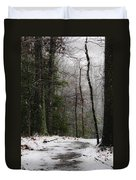 Snowy Trail Quantico National Cemetery Duvet Cover