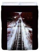 Snowy Train Tracks Duvet Cover