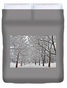 Snowy Treeline Duvet Cover