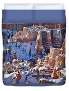 Snowy Turrets Duvet Cover