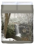 Snowy Waterfall Duvet Cover